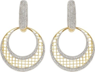 Fashionage Gracious Gold Alloy Chandbali Earring