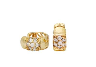 Arc Fashion Sparkling earrings Alloy Hoop Earring