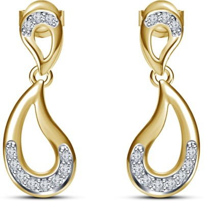 Kirati Beautiful Fancy Cubic Zirconia Sterling Silver Drop Earring