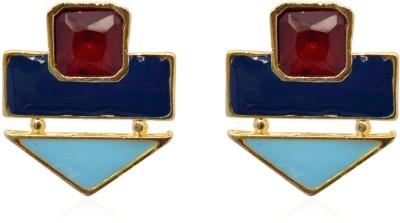 Crunchy Fashion Color Rush Blue Turq Alloy Stud Earring