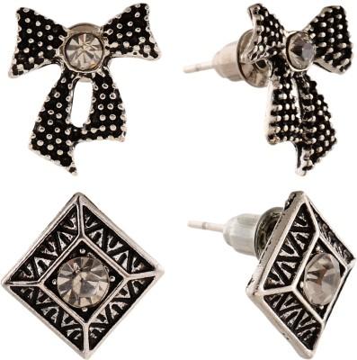 Anokhi Ada Rhombii and Bowknot Metal Stud Earring