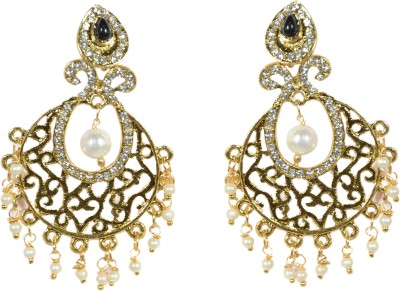 Indowave Splendid Sparkle Alloy Drop Earring