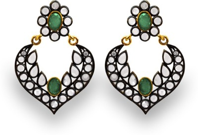 SuvidhaArts Traditional Fashion Cubic Zirconia Metal Chandelier Earring