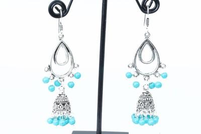 Waama Jewels charming blue Metal Dangle Earring