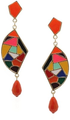 Crunchy Fashion Color-Rush Mosaic Foxy Alloy Drop Earring