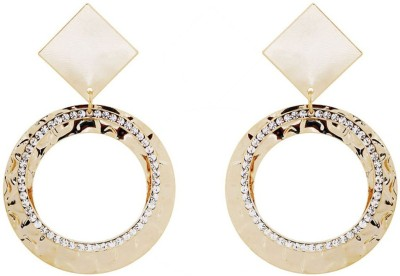 Saashis Closet Shimmery Gold Alloy Drop Earring