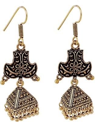 Gems N Pearls Traditional Brass Dangle Earring