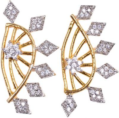 Navya Navya Collection_American Diamond Ear Cuff Cubic Zirconia Alloy Cuff Earring