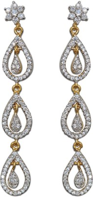 Enzy Stunning American Diamond Dangler Alloy Drop Earring