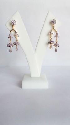 Shree Ji Creations Double Jhumki Cubic Zirconia Brass Drop Earring