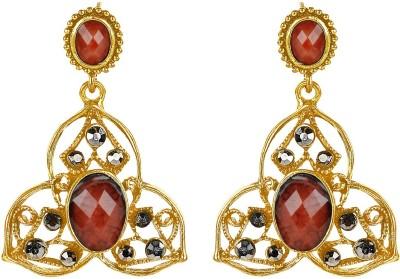 Ornamenta Embellished Metal Dangle Earring