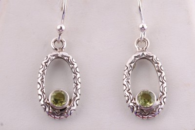 Tiwari Peridot Hanging Sterling Silver Dangle Earring