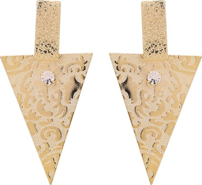 Adwitiya Fashion Up To Spring Sparkle Crystal Copper Stud Earring at flipkart