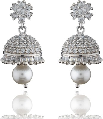 Chaahat Fashion Jewellery Simple And Beautiful Designed Cubic Zirconia Copper Jhumki Earring