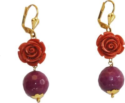 Women Trendz Flower Golden Polish Metal Clip-on Earring