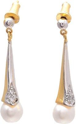 JewelAway Hanging Brass Drop Earring
