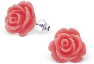 Maayin Pink Rose Silver Stud Earring