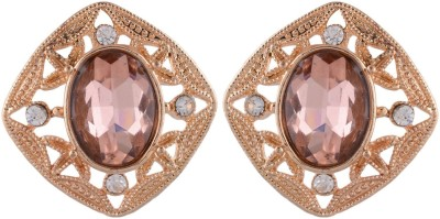 Golden Petals Glam H Alloy Stud Earring