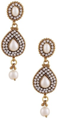Gold & More Pearl Alloy Drop Earring