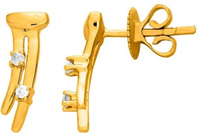 Sparkles T6151D Yellow Gold 18kt Diamond Stud Earring