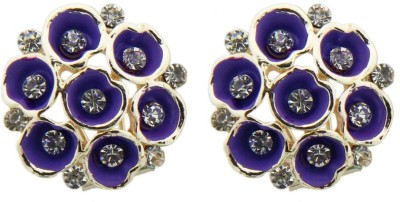Sushito Purple Flower Alloy Stud Earring
