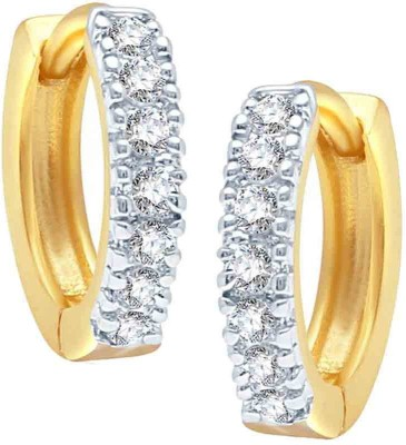 Enzy Cute Golden Baali Zircon Copper Hoop Earring