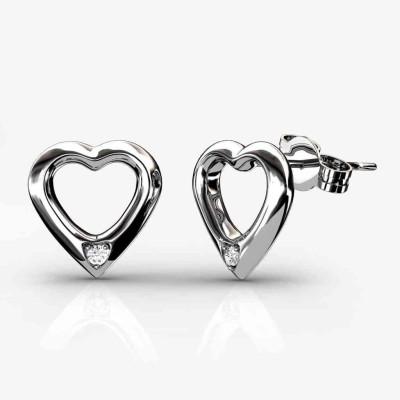 JDX Aafreeda Swarovski Zirconia Silver Stud Earring