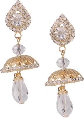 Castle Street Crystal Alloy Jhumki Earring