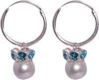 Abhooshan Pearl Sterling Silver Hoop Earring