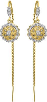 Shanti Jewellery Classic AD Earrings Brass Tassel Earring