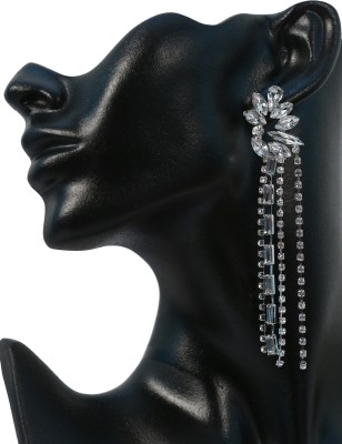 Krazzy Collection Long Sparkle Copper Drop Earring