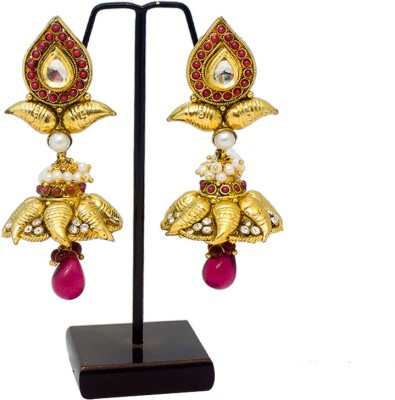 Supreme Art Jewellers Ethnic Style Red Color Copper Jhumki Earring