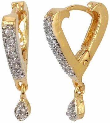 Jewels Guru Just Like Diamond Cubic Zirconia Brass Drop Earring