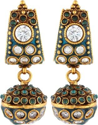 Aadi Creations Multi Stones Copper, Brass Drop Earring