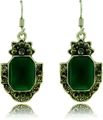 Camy Green Drop Antique Casual Alloy Drop Earring