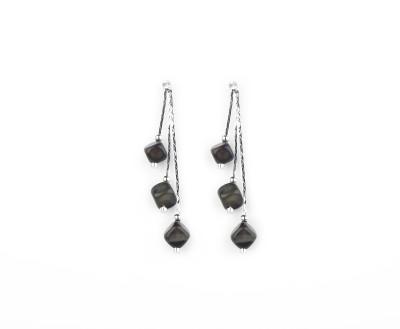 Jewelfin Black Chain Alloy Dangle Earring