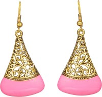 CTW Elegant Golden Textured Hanging Acrylic Dangle Earring best price on Flipkart @ Rs. 229