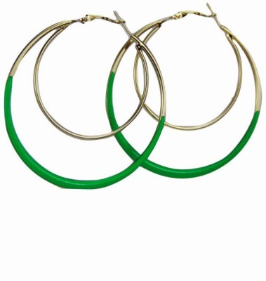 Fashion Berg Accessories Green Ballie Alloy Hoop Earring