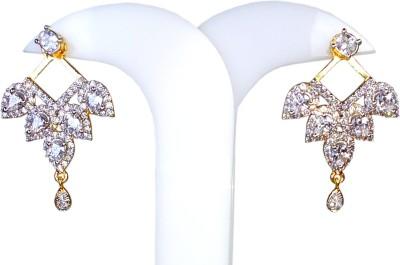 AVSM Creations Kite Design Stone Studded Alloy Drop Earring