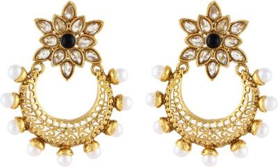 Aadi Creations Pearl Charm Copper, Brass Chandbali Earring