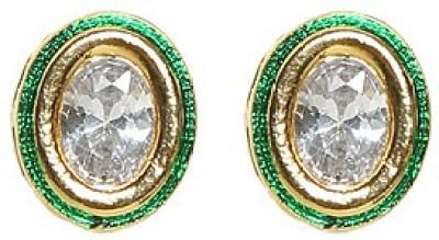 Saraa Spring Sparkle Cubic Zirconia Metal Stud Earring