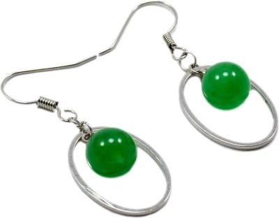 Silvesto India 727 Jade Stone Dangle Earring