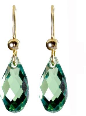 Pearl Paradise Briolette Erinite Elements. Swarovski Crystal Stone Dangle Earring