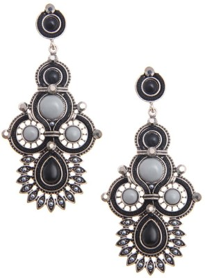 Jewelizer Ultra Chic Bohemian Style Crystal Alloy Drop Earring