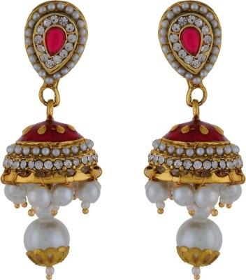Numaish Ethinc Pearl Alloy Jhumki Earring