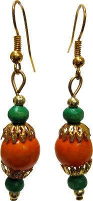 DCS Multibeads Wood Dangle Earring