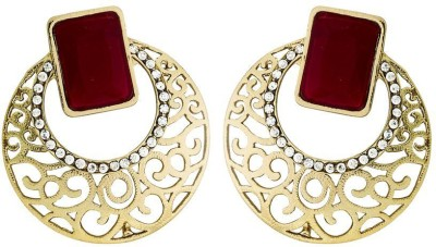 Deco Junction Ethnic Round Alloy Earring Alloy Chandbali Earring