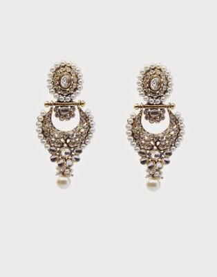Oars Rajwada Alloy Chandbali Earring
