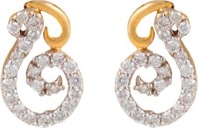 Gothis S Shape Gold Stud Earring