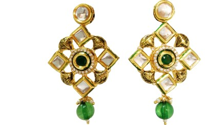 BALEE FASHIONS BALEE FASHIONS GOLD PLATED PAERL EARINGS Pearl Brass Drop Earring